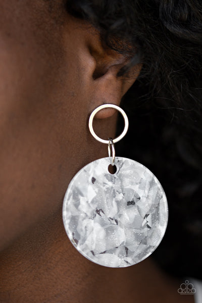 Paparazzi Accessories - Beach Bliss - White Earrings - JMJ Jewelry Collection