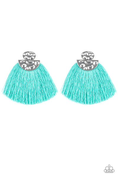 Paparazzi Accessories - Make Some PLUME - Blue Earrings - JMJ Jewelry Collection
