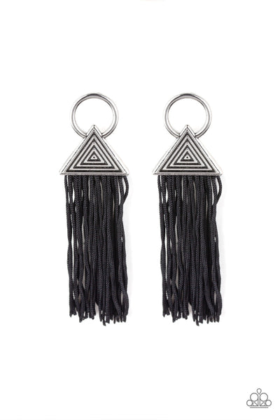 Paparazzi Accessories - Oh My GIZA - Black Earrings - JMJ Jewelry Collection