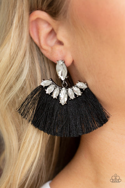 Paparazzi Accessories - Formal Flair - Black Earrings - JMJ Jewelry Collection