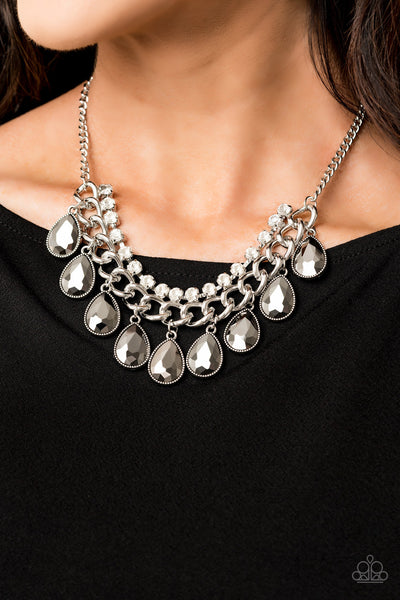 Paparazzi Accessories - All Toget-HEIR Now - Silver Necklace Set - JMJ Jewelry Collection