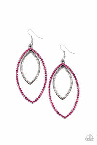 Paparazzi Accessories - High Maintenance - Silver/Pink Earrings - JMJ Jewelry Collection