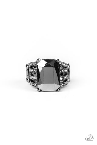 Paparazzi Accessories - Expect Heavy REIGN - Black Ring