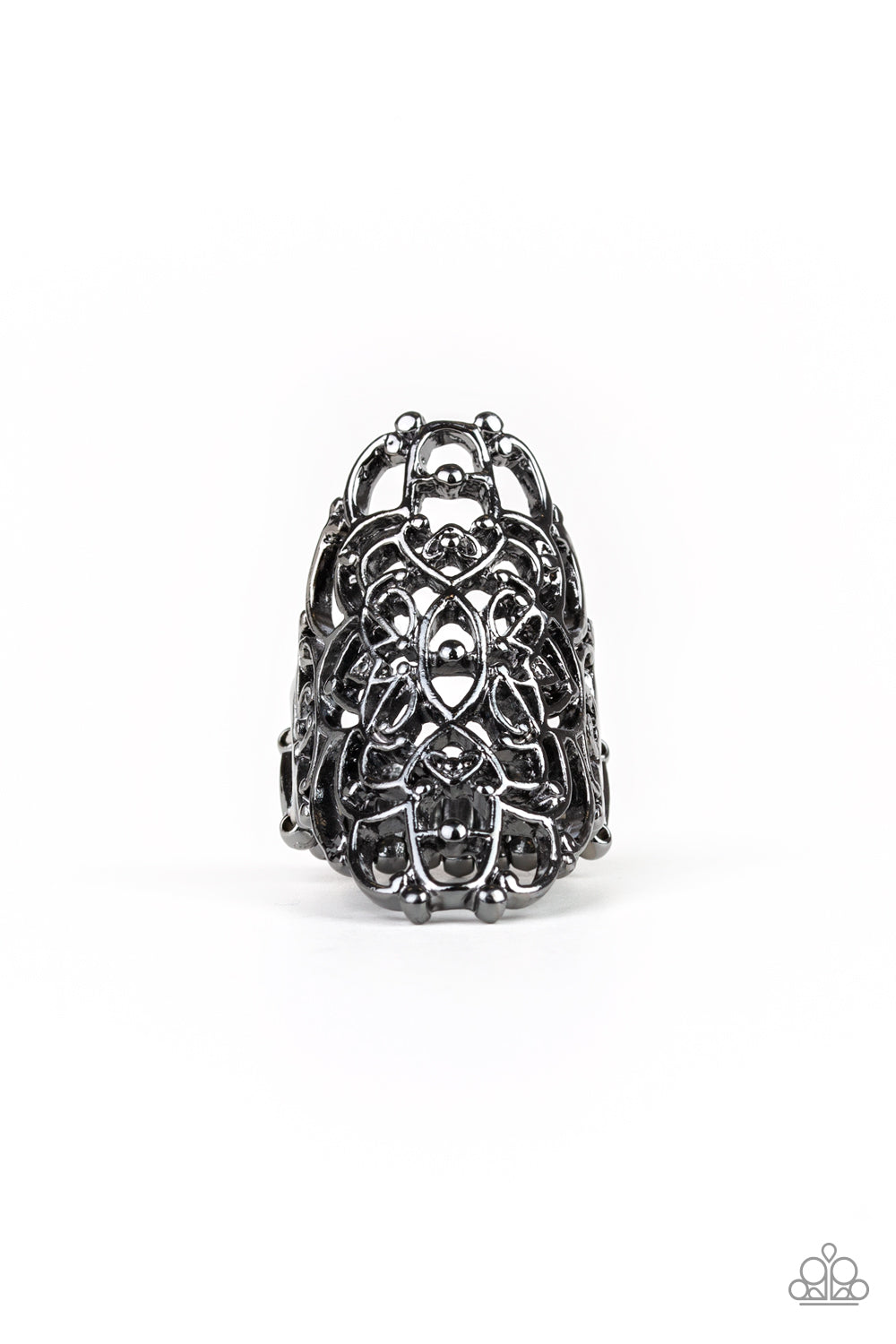 Paparazzi Accessories - Mandala Magic - Black Ring - JMJ Jewelry Collection