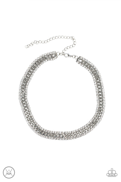 Paparazzi Accessories - Empo-HER-ment - White Necklace Set - JMJ Jewelry Collection