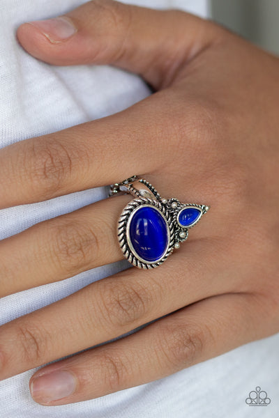 Paparazzi Accessories - Malibu Mist - Blue Ring - JMJ Jewelry Collection