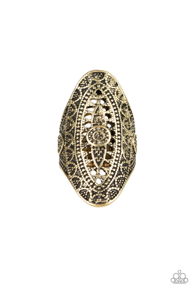 Paparazzi Accessories - TRIBAL and Tribulation - Brass Ring - JMJ Jewelry Collection
