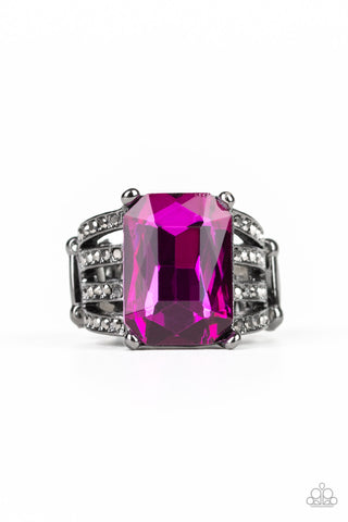 Paparazzi Accessories - Expect Heavy REIGN - Pink Ring