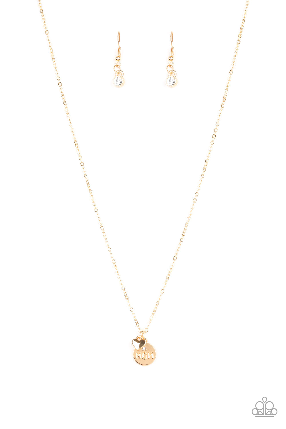 Paparazzi Accessories - Worlds Best Mom - Gold Necklace Set - JMJ Jewelry Collection