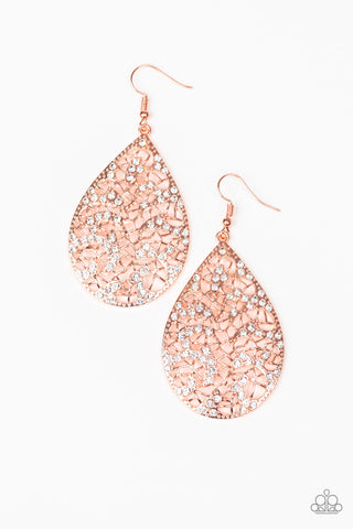 Paparazzi Accessories - Hustle and Bustle - Copper Earrings - JMJ Jewelry Collection