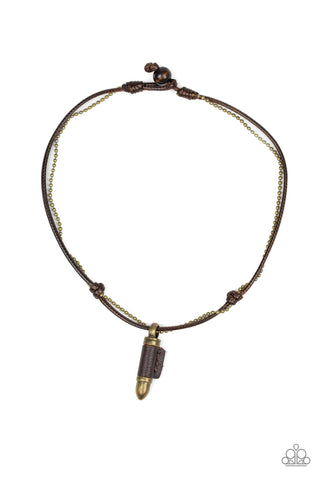Paparazzi Accessories - Magic Bullet - Brass Necklace - JMJ Jewelry Collection