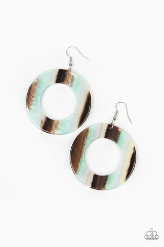 Paparazzi Accessories - In Retrospect - Multicolor Earrings - JMJ Jewelry Collection