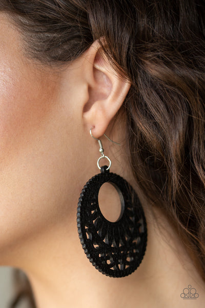 Paparazzi Accessories - Coachella Cabana - Black Earrings - JMJ Jewelry Collection