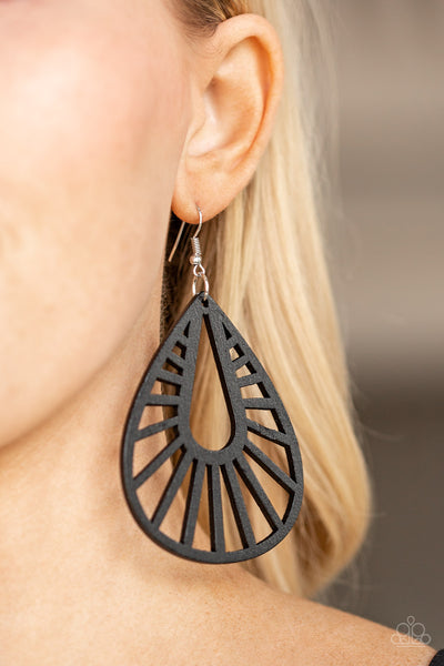 Paparazzi Accessories - Coachella Chill - Black Earrings - JMJ Jewelry Collection