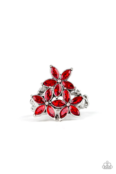 Paparazzi Accessories - Gardenia Grandeur - Red Ring - JMJ Jewelry Collection