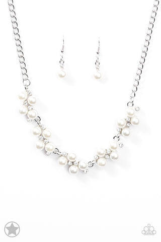 Paparazzi Accessories - Love Story - White Necklace Set - JMJ Jewelry Collection