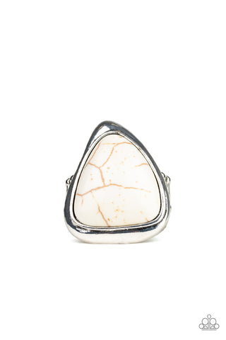 Paparazzi Accessories - Stone Scene - White Ring