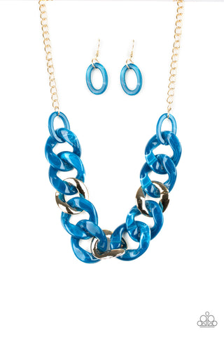 Paparazzi Accessories - I Have A HAUTE Date - Blue Necklace Set - JMJ Jewelry Collection