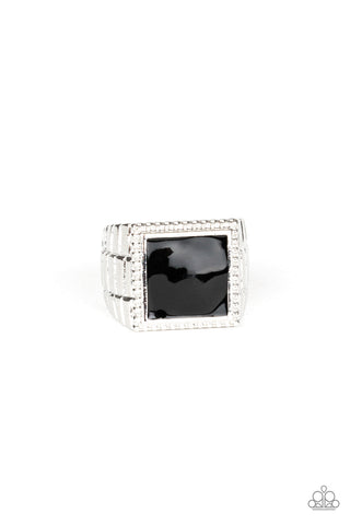 Paparazzi Accessories - The Titan - Black Ring - JMJ Jewelry Collection