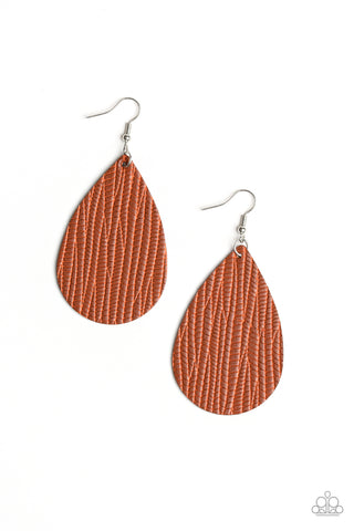 Paparazzi Accessories - Natural Resource - Brown Earrings - JMJ Jewelry Collection