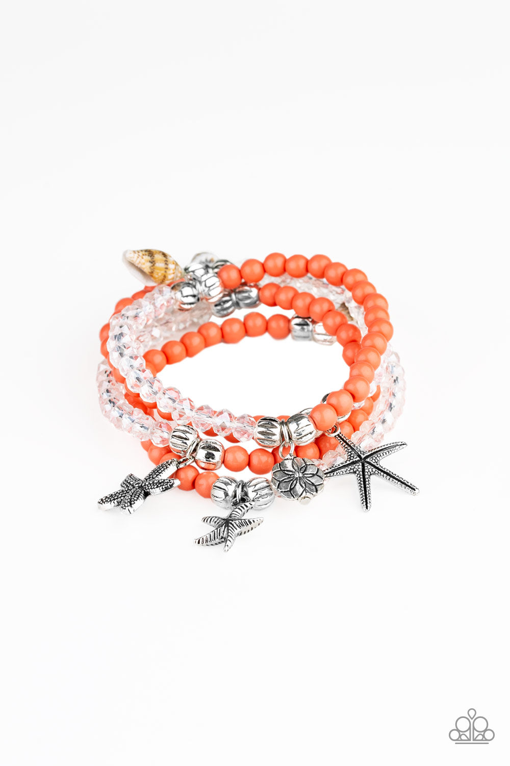 Paparazzi Accessories - Ocean Breeze - Orange Bracelets - JMJ Jewelry Collection