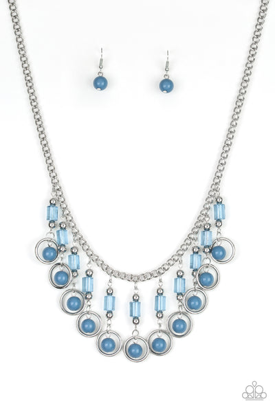 Paparazzi Accessories - Cool Cascade - Blue Necklace Set - JMJ Jewelry Collection