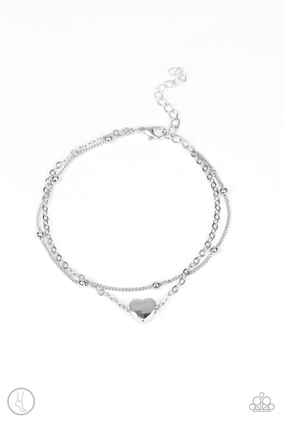 Paparazzi Accessories - Ocean Heart - Silver Bracelet - JMJ Jewelry Collection