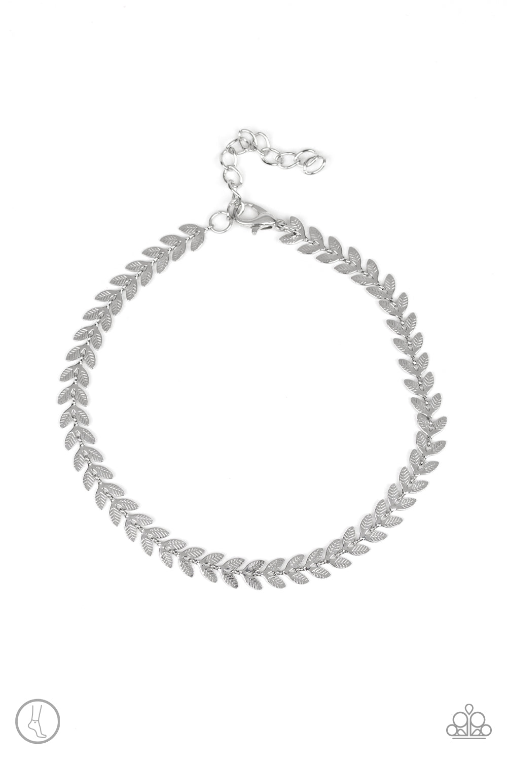 Paparazzi Accessories - West Coast Goddess - Silver Anklet - JMJ Jewelry Collection