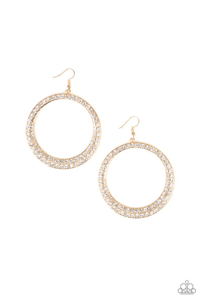 Paparazzi Accessories - So Demanding - Gold Earrings - JMJ Jewelry Collection