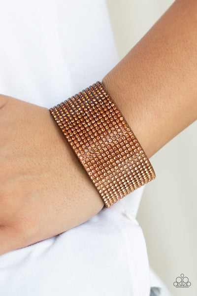 Paparazzi Accessories - Fade Out - Brown Bracelet - JMJ Jewelry Collection