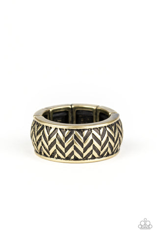 Paparazzi Accessories - Survival Skills - Brass Ring - JMJ Jewelry Collection