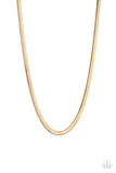 Paparazzi Accessories - Kingpin - Gold Necklace