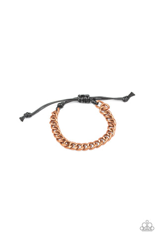 Paparazzi Accessories - Goal! - Copper Bracelet