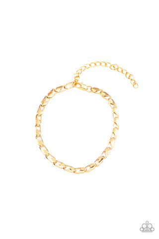 Paparazzi Accessories - K.O. - Gold Bracelet - JMJ Jewelry Collection
