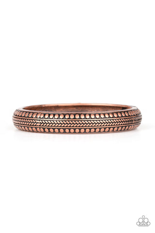 Paparazzi Accessories - Zimbabwe Zen - Copper Bracelet