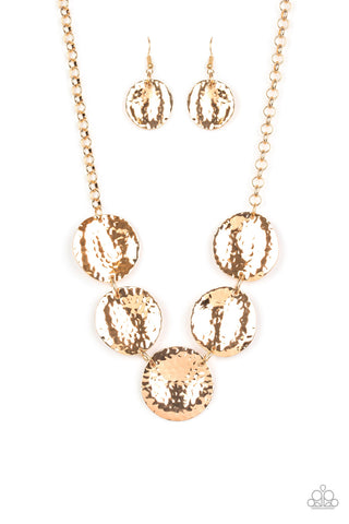 Paparazzi Accessories - First Impressions - Gold Necklace Set