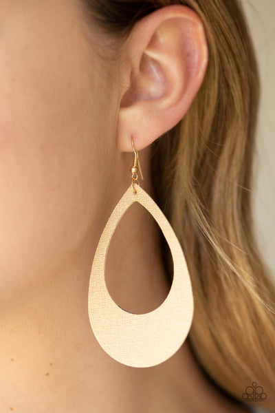 Paparazzi Accessories - What a Natural - Gold Earrings - JMJ Jewelry Collection