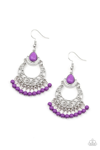 Paparazzi Accessories - Colorful Colada - Purple Earrings