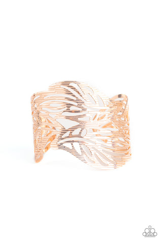 Paparazzi Accessories - Leafy Lei - Rose Gold Bracelet