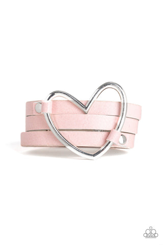 Paparazzi Accessories - One Love, One Heart - Pink Bracelet
