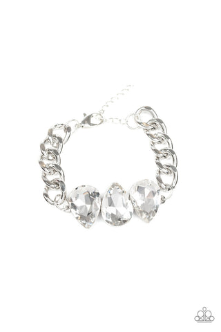 Paparazzi Accessories - Bring Your Own Bling - White Bracelet