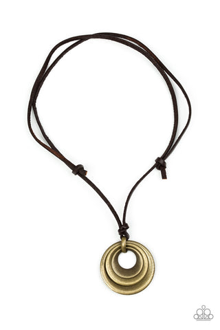 Paparazzi Accessories - Desert Spiral - Brass Urban Necklace