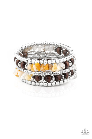 Paparazzi Accessories - Soul Searchin - Yellow Bracelet