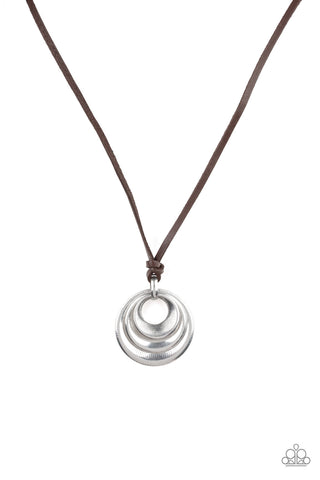 Paparazzi Accessories - Desert Spiral - Silver Urban Necklace
