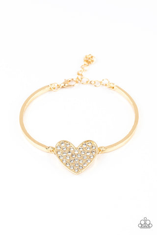 Paparazzi Accessories - Heart-Stopping Shimmer - Gold Bracelet
