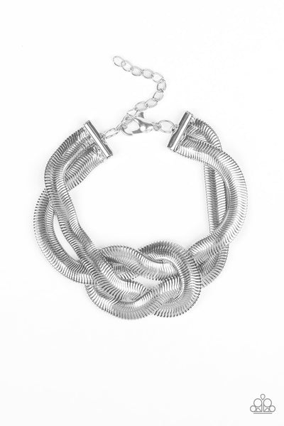 Paparazzi Accessories - To The Max - Silver Bracelet