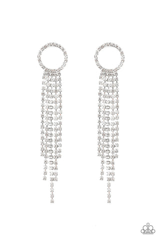 Paparazzi Accessories - Endless Sheen - White Earrings