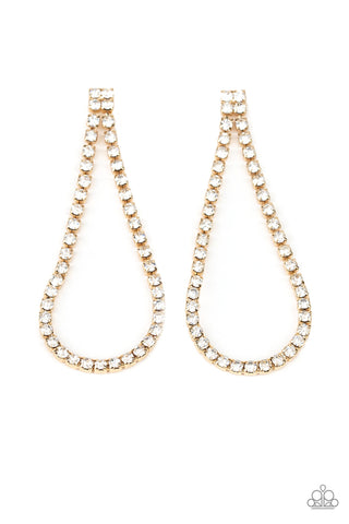 Paparazzi Accessories - Diamond Drops - Gold Earrings