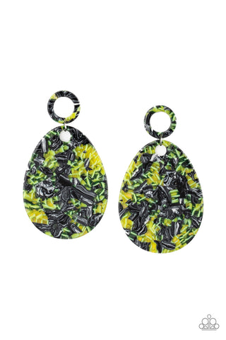 Paparazzi Accessories - Retro-politan- Multicolor Earrings