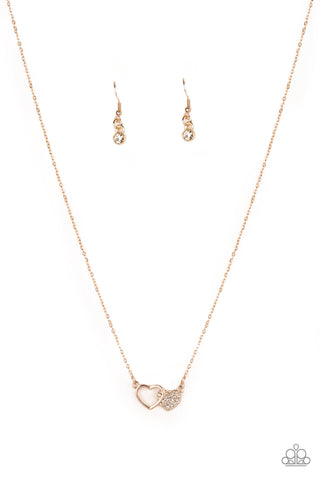 Paparazzi Accessories - Charming Couple - Rose Gold Necklace Set